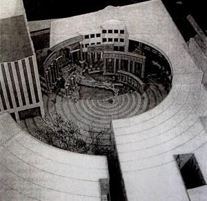 Charles Moore, Piazza d'Italia (1976), Maqueta